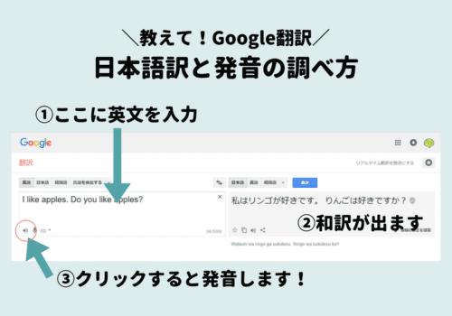 教えてGoogle翻訳!日本語訳と発音の調べ方