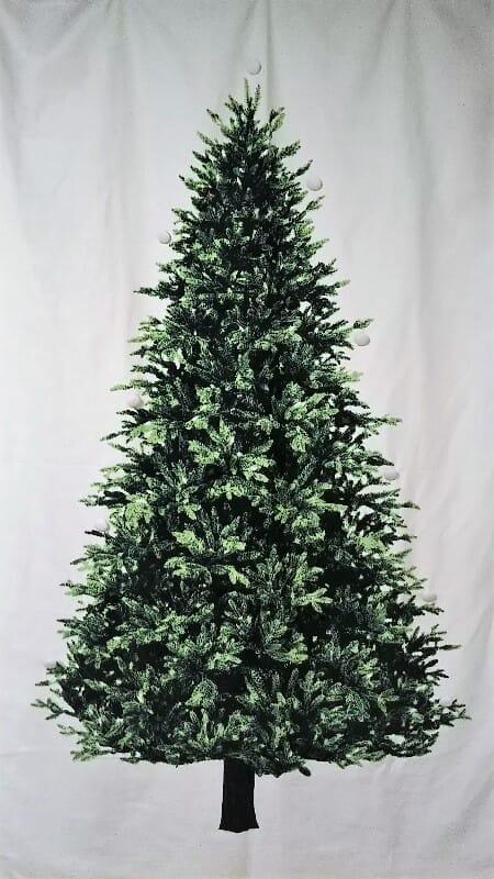 クリスマスツリータペストリーのヌードツリーバージョン