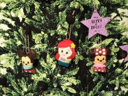 ディズニーKIDEAのフェルトマスコット×クリスマスツリータペストリー