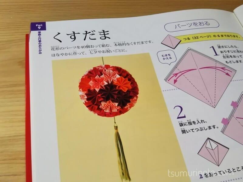 さすがに折り紙40枚折る気力がなかったくす玉。本からです
