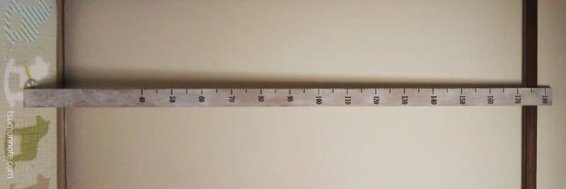 画像が長いので横向きで身長計完成図