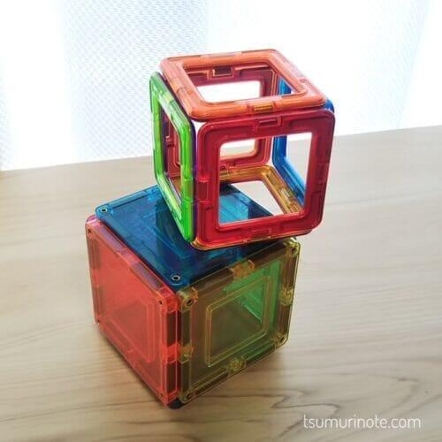 マグフォーマーとマグビルドで立方体作ってみました