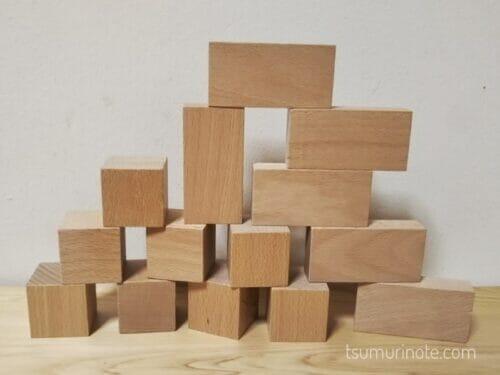 「小さな大工さん」の40ミリ基尺の積み木を選んだ経緯と実際に遊んだ感想を口コミするよ07