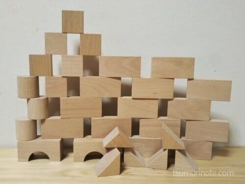 「小さな大工さん」の40ミリ基尺の積み木を選んだ経緯と実際に遊んだ感想を口コミするよ08