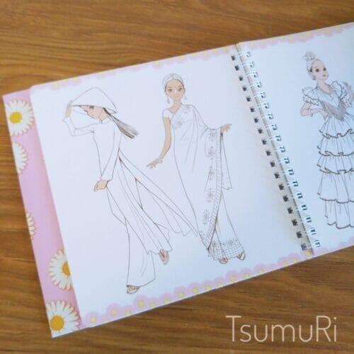 おしゃまな女の子に贈りたい!貼って剥がせるシールブック「おしゃれノート」が可愛くておすすめ03