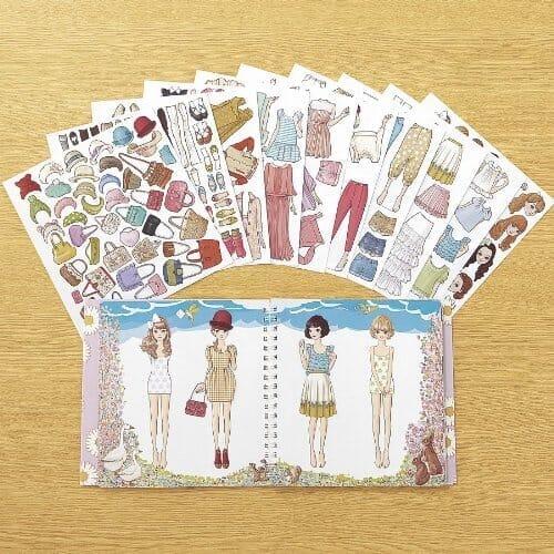 おしゃまな女の子に贈りたい!貼って剥がせるシールブック「おしゃれノート」が可愛くておすすめ01