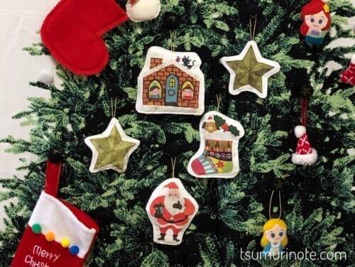 クリスマスツリータペストリー拡大図