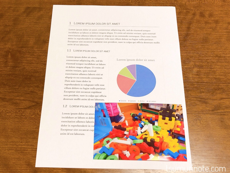 ブラザープリビオDCP-J987N印刷結果
