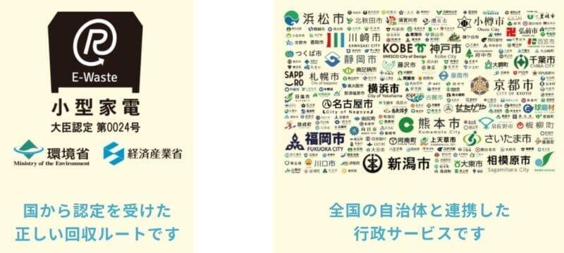 リネットジャパンは国から認定を受けた事業者で全国の自治体と連携