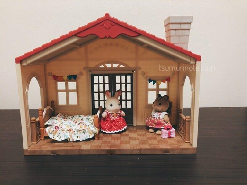 シルバニアファミリー「赤い屋根の大きなお家」煙突のお部屋を別荘に