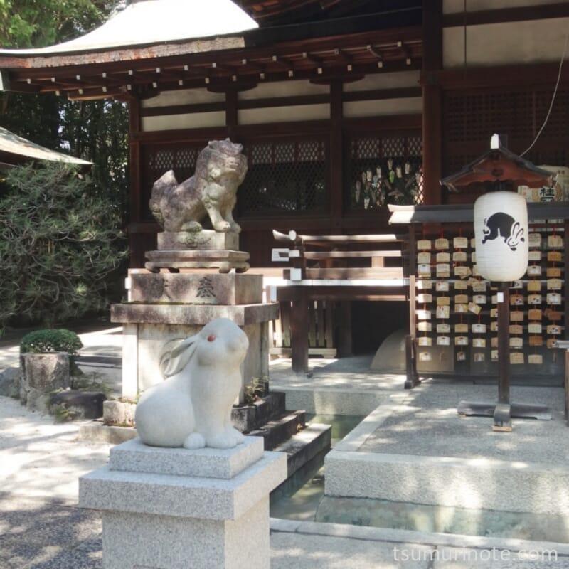 京都・東天王岡崎神社にて狛兎さん